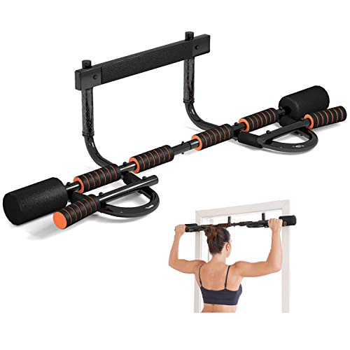 CEAYUN Pull up Bar for Doorway, Portable Pullup Chin up Bar Home, No Screws Multifunctional Dip bar...