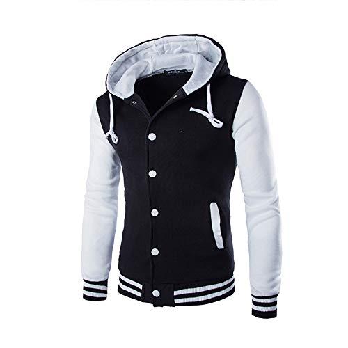 Skxinn Herren Kapuzenpullover Warm Sweatjacke -Männer Hoodie mit Tasche Mantel Jacke Pullover Sweatshirt Hoodie Langarm Oberbekleidung Lange Ärmel Outwear Jacket(Weiß,X-Large)