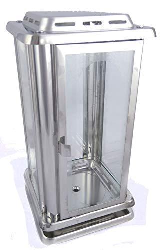 designgrab AEL1 Grablampe Royal aus Edelstahl, Silber, 12 x 12 x 23 cm