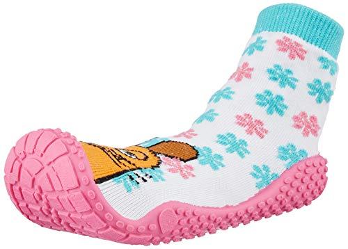 Playshoes Unisex-Kinder Socke DIE Maus Aqua Schuhe, Mehrfarbig (Weiß/Rosa 586), 26/27 EU