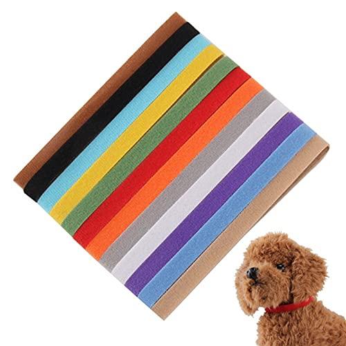 JHGJHG 12 unids/Set recién Nacido Cachorro Perro Gatito Collares Nylon Reutilizable Banda Ajustable criador Productos Mascotas Multicolor