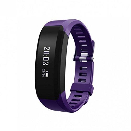 Tracker d'Activité Cardiofréquencemètre,HD LCD,Trackers d'activité,Podomètres,Cardiofréquencemètres,Protection écran,avec écran tactile OLED Smart Watch pour iOS Android Smartphones