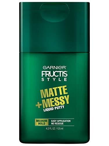 Garnier Fructis Style Matte and Messy Liquid Hair Putty for Men, 4.2 Ounce