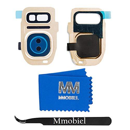 MMOBIEL Rück Kamera Linse Cover Abdeckung kompatibel mit Samsung Galaxy S7 G930 (Gold Platinum) mit Pinzette und Tuch
