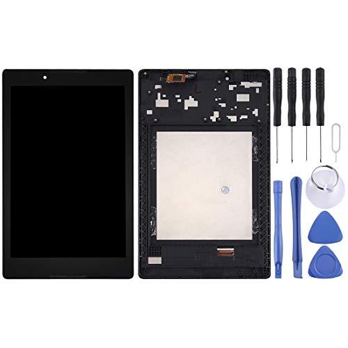 MENGHONGLLI Partes de reparación de teléfonos celulares Lenovo A8-50 Tableta LCD Pantalla Pantalla táctil digitalizador Asamblea con Marco Black