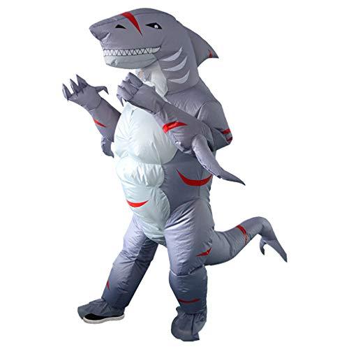 Yewei Halloween COS aufblasbare Kleidung Karneval Party Performance Puppe Kleidung Cosplay lustige Hai aufblasbaren Anzug (Hai, Feste Größe)
