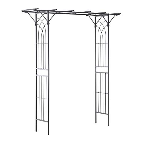Outsunny Decorative Metal Garden Trellis Arch