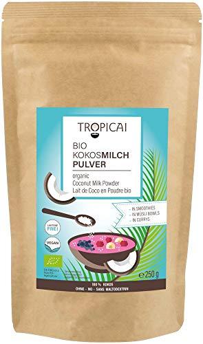 Tropicai Bio-Kokosmilchpulver - ohne Zusatzstoffe / maltodextrinfrei, 250 g