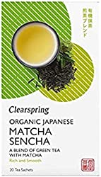 Clearspring Organic Japanese Matcha Sencha, Green Tea - Teabags, 36 g