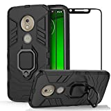 BestShare For Moto G7 Play Case with Tempered Glass Screen