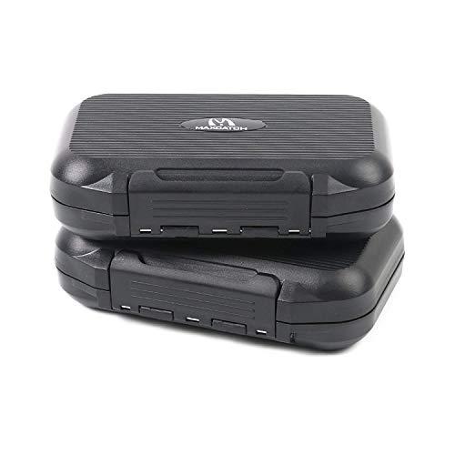 Maximumcatch OR Fliegenbox wasserdichte und tragbare Fliegendose mit Easy-Grip Schlitzschaum (Kombination(Schlitz&Easy-Griff-Schaum))