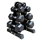 Leiyini 3-Tier Dumbbell Storage Rack Stand A-Frame Multilevel Hand Weight Tower Dumbbell Rack Stand for Gym Organization