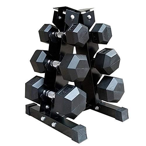 perfecthome Kurzhantelablage mit DREI Gittern, Typ A Rahmen Kurzhantelablage Fitnesszubehör