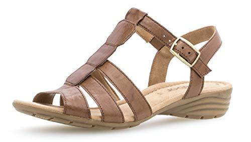 Gabor 24.558 Damen Sandalen,Keilsandalen, Frauen,Keilabsatz-Sandaletten,Keilsandaletten,Sommerschuh,flach,Best Fitting,Übergrößen,Copper,6.5 UK