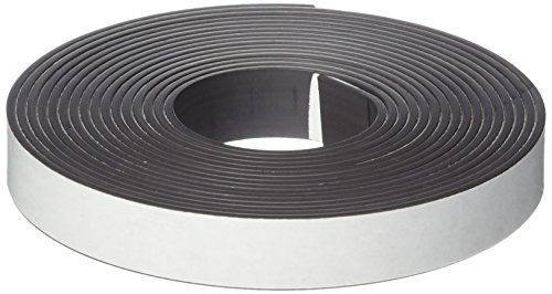 School Smart Adhesive Backed Magnetic Rubber Strip, 1/2 in X 10 ft