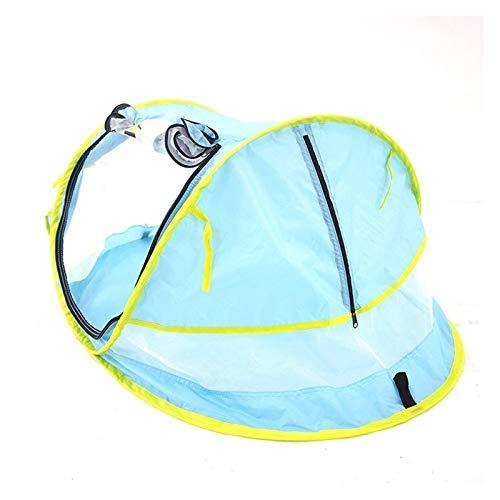YXIUER Baby Strand Zelt Tragbare Pop Up Tent Sun Shelts Baby Schatten Camping Zelt mit Moskitonetz Sun Shade Strand Regenschirm Für Säugling (Color : Blue)