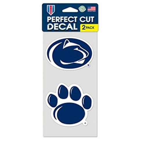 NCAA Penn State University Perfect Cut Decal (Set of 2), 4  x 4