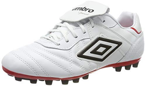 Umbro Speciali Eternal Team, Botas de fútbol para Hombre, Blanco (White/Black/Vermillion 2VZ), 42 EU