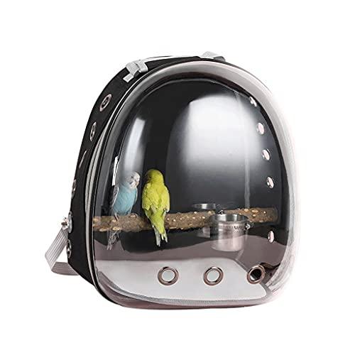 YYDS Mochila de Aves con Palo de pie y Cuencos Espacio Transparente cápsula pájaro Portador de Loros para Viajes, Senderismo y al Aire Libre (tamaño : 31 * 28 * 41cm)