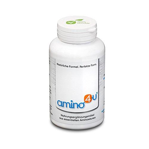 amino4u by HABACON: Presslinge 120g Dose 1g Matcha Probe GRATIS - alle 8 essentiellen Aminosäuren zur Proteinversorgung bei veganer/vegetarischer Ernährung, Diäten, Muskelaufbau und Regeneration