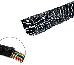 MGI SpeedWare Woven Mesh Split-Sleeve Wire Loom 25 feet - 3/4