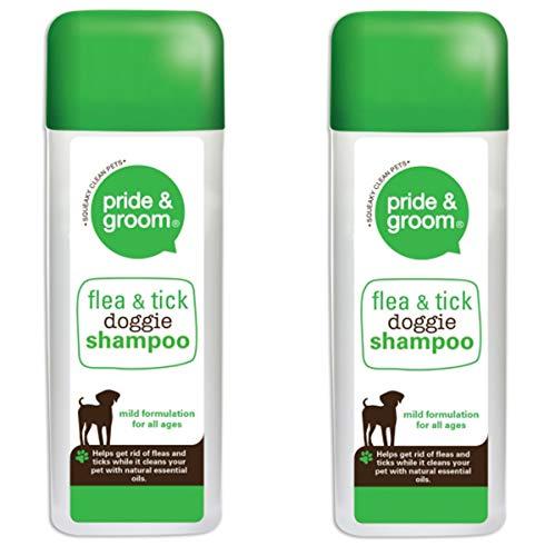 Pride & Groom 2 x Flea & Tick Doggie Shampoo - Dog & Puppy Mild Formulation 300ml