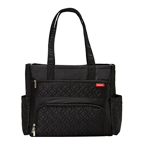 SoHo Williamsburg Diaper Bag Large Tote (One Size, Black)