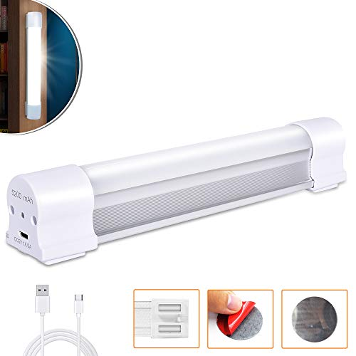 LETOUR LED Tube Magnetic Light Work Lights 4000Lumens 5 Lighting Options Camping Lantern USB Rechargeable Portable Battery Powered Lights with 2 Magnets Endurance for 60 Hours