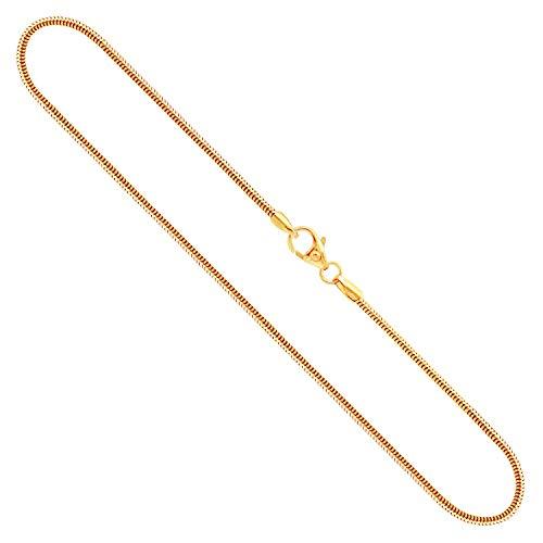 Goldkette, Schlangenkette Gelbgold 333/8 K, Länge 50 cm, Breite 1.4 mm, Gewicht ca. 3.9 g, NEU