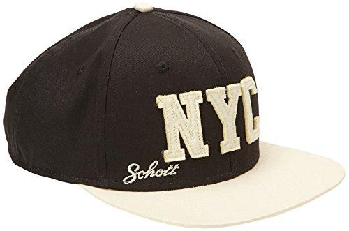 Schott NYC CAPBASE casquette de Baseball, Multicolore (Black/Ecru), Fabricant: Taille Unique Homme