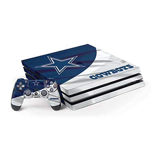 Skinit Decal Gaming Skin Compatible with PS4 Pro Console and Controller Bundle - Officially Licensed NFL Dallas Cowboys Design