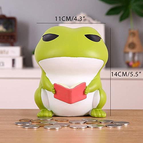 wksee Escultura Decorativa Figuritas Decorativas Cartoon Frog Piggy Bank Resin Craft Money Box Home Desktop Decoration Anime Figurine Kids Toys Gift
