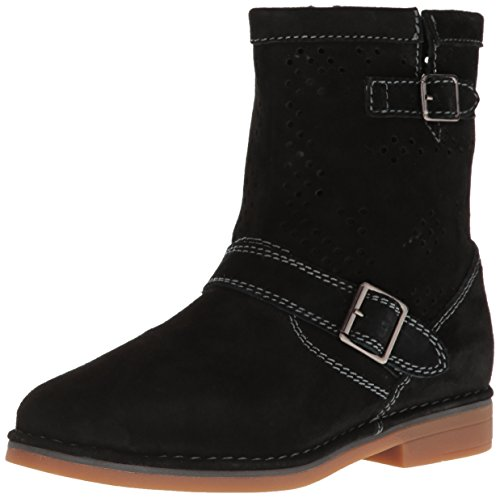 Hush Puppies Women's Aydin Catelyn Perf Boot, Black Suede, 5.5 M US