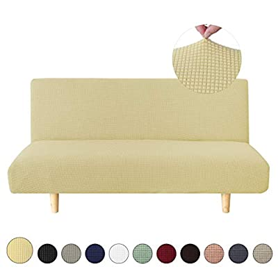 sancua Stretch Spandex Sofa Cover 3 Seat Couch Cover Non Slip Sofa Slipcover with Elastic Bottom for Living Room Furniture Protector Couch Slipcover for Dogs, Cats and Pets