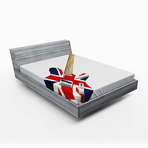 ABAKUHAUS Bandera de Reino Unido Sábana Elastizada, Bandera de la Guitarra eléctrica,...