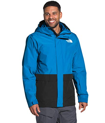 The North Face Men's Clement Triclimate Jacket, Clear Lake Blue/TNF Black, XXL