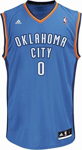 adidas INT Replica JRSY Camiseta de Manga Corta, Hombre, Multicolor (NBA Oklahoma City Thunder 1 3Cb), XXS