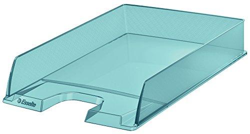 """Esselte Colour'Ice - Vaschetta portacorrispondenza, Formato A4, Impilabile verticalmente o a """"sbalzo"""", Polistirene (PS), Blu, 626274"""