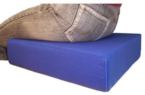 LUplus Orthopädische Sitzerhöhung 40x40x Höhe 10 cm Farbe: blau