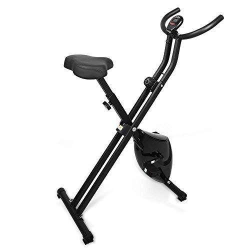 himaly fitnessbike,heimtrainer,klappbarer Hometrainer, verstellbare Widerstandsstufen,LCD-Display, 8-stufiger Magnetwiderstand,150 Kg max. hometrainer fahrrad Gewichtsbelastung