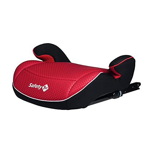 Safety 1st Manga Fix Elevador Silla de Coche ISOFIX, Sillita de Auto para Niños 6-12 años, Alzador, 22-36 kg, Pixel Red (rojo)