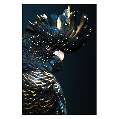 CCZWVH American Modern Cockatoo Animal Lienzo Pintura Arte de la Pared Pósteres e Imprimir Imagen de Arte de la Pared para la Sala de niños Decoración de Noche 20x28 Inch Sin Marco