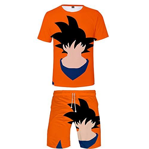Dragon Ball Los Niños Niñas Pijamas Set Verano Boys Ropa Shorts y Traje de Camiseta Niños Ropa