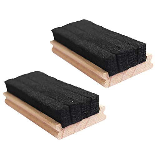 STOBOK 5 gomas de borrar de madera para pizarra, borradores en seco, para casa, escuela, oficina, color marrón Size 1