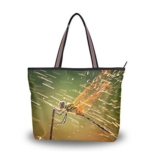 Eslifey Brave Animal Libelle Sprays Flüssigkeiten Damen Tote Bag Handtaschen Schultertaschen für Damen Mädchen Gr. 38, multi