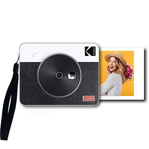 Kodak Mini Shot 3 Retro Fotocamera Istantanea e Stampante Fotografica Portatile, Ios e Android, Tecnologia 4Pass (76 X 76 Mm) - Bianco - 8 Fogli