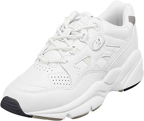 Propet Men Stability Walker Sneaker, White, 9 N US