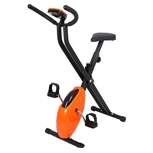 WWMH Bicicleta EstáTica,Mini Bicicleta EstáTica Plegable,Pedaleador Plegable LCD Pantalla,MáQuinas de Brazos y Piernas Entrenamiento Resistencia Ajustable para Hacer Ejercicio en Casa