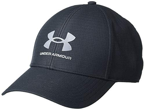 Under Armour ISO-Chill ArmourVent Fitted Baseball Cap Gorro/Sombrero, Negro/Gris Pardo (001), M para Hombre