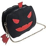 Bolso de hombro, Bolso de calabaza de mujer, Bolso de caramelo de Halloween, Bolso mensajero de hombro Little Devil (black)
